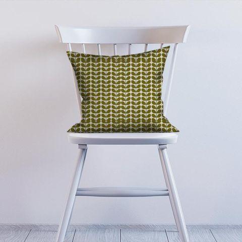 Two Colour Stem Olive Cushion