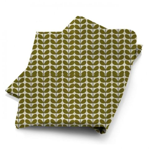 Two Colour Stem Olive Fabric