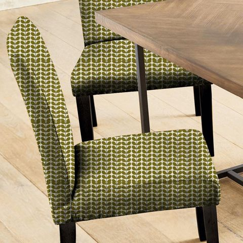 Two Colour Stem Olive Seat Pad Cover