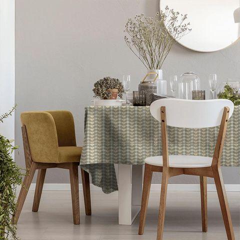 Two Colour Stem Warm Grey Tablecloth