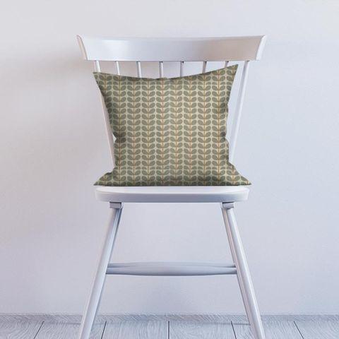 Two Colour Stem Warm Grey Cushion