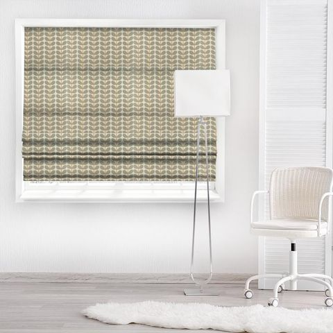 Two Colour Stem Warm Grey Made To Measure Roman Blind