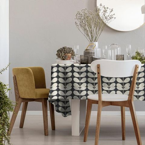 Giant Stem Cool Grey Tablecloth