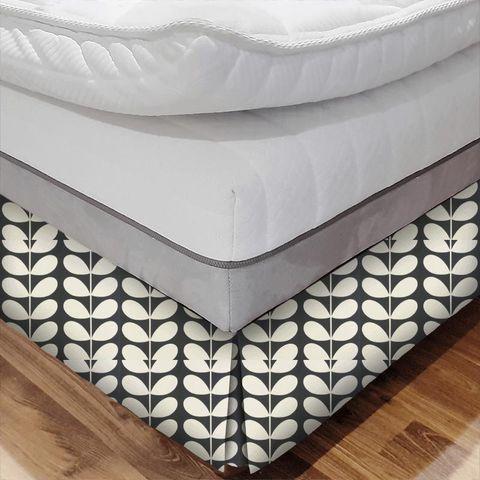 Giant Stem Cool Grey Bed Base Valance