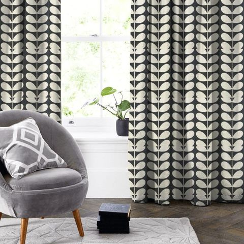 Giant Stem Cool Grey Made To Measure Curtain