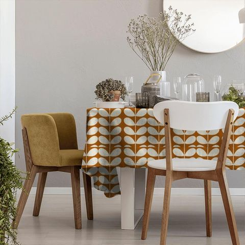 Giant Stem Orange Tablecloth