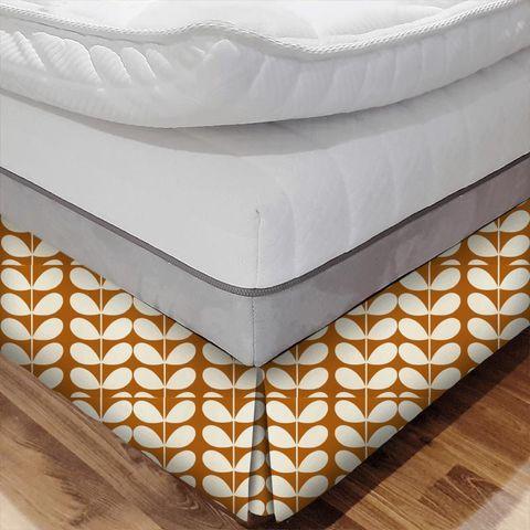 Giant Stem Orange Bed Base Valance