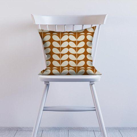 Giant Stem Orange Cushion
