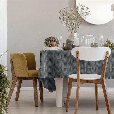 Linear Stem Cool Grey Tablecloth