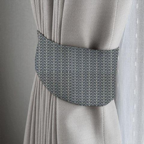 Linear Stem Cool Grey Tieback