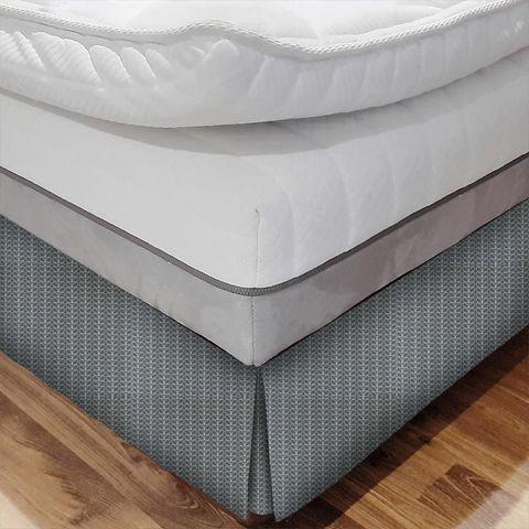 Linear Stem Cool Grey Bed Base Valance