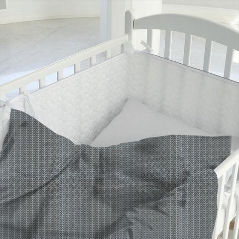 Linear Stem Cool Grey Cot Duvet Cover