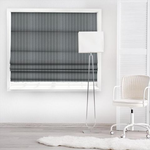 Linear Stem Cool Grey Made To Measure Roman Blind