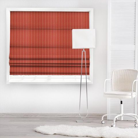 Linear Stem Tomato Made To Measure Roman Blind