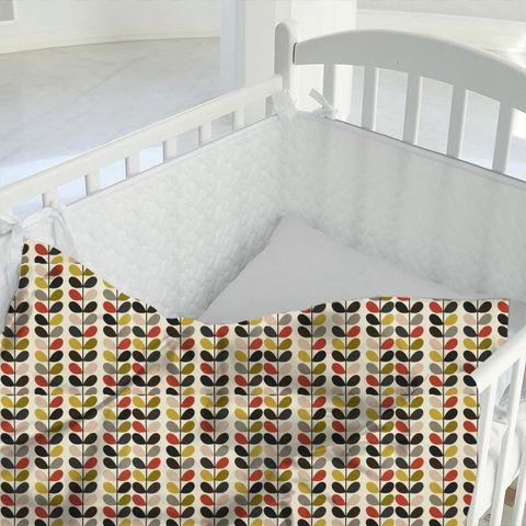 Multi Stem Tomato Cot Duvet Cover