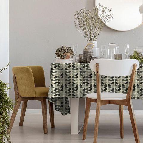 Multi Stem Warm Grey Tablecloth