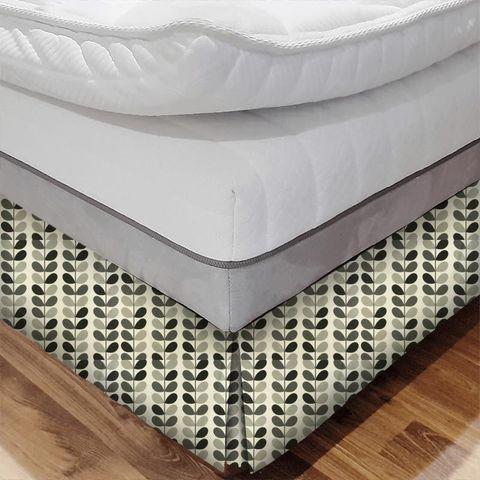 Multi Stem Warm Grey Bed Base Valance