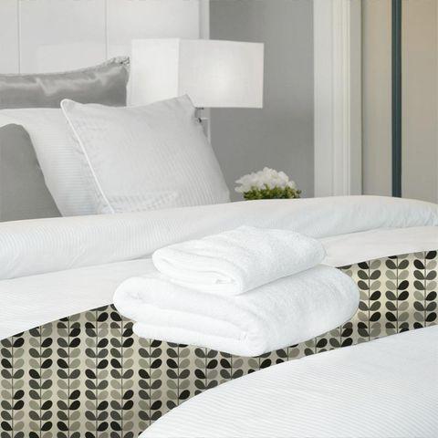 Multi Stem Warm Grey Bed Runner