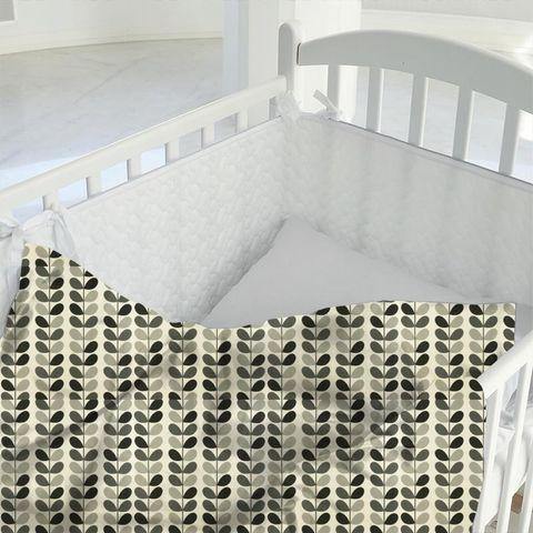 Multi Stem Warm Grey Cot Duvet Cover