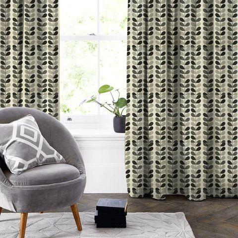 Multi Stem Warm Grey Made To Measure Curtain