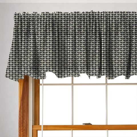 Oval Flower Cool Grey Valance