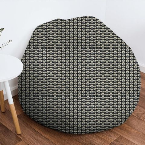 Oval Flower Cool Grey Bean Bag