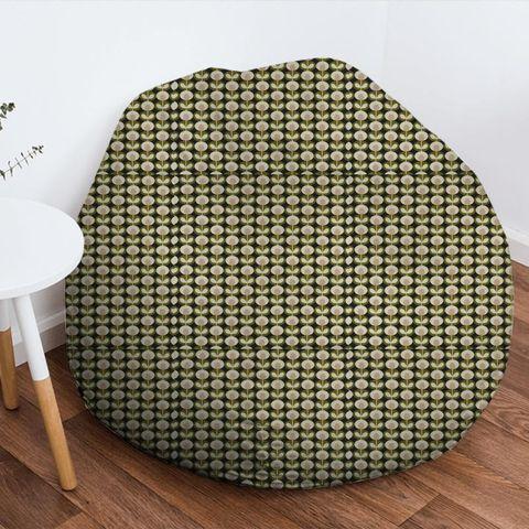 Oval Flower Seagrass Bean Bag