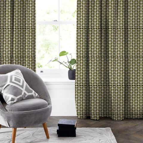 Oval Flower Seagrass Made To Measure Curtain
