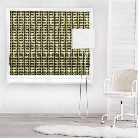 Oval Flower Seagrass Made To Measure Roman Blind