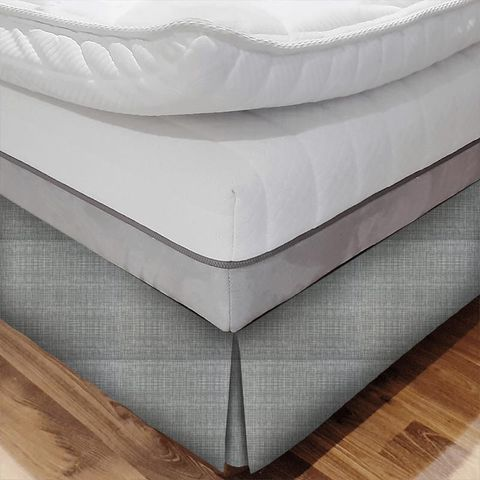 Scribble Cool Grey Bed Base Valance