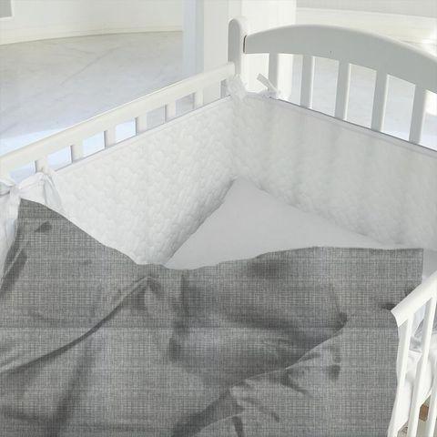 Scribble Cool Grey Cot Duvet Cover