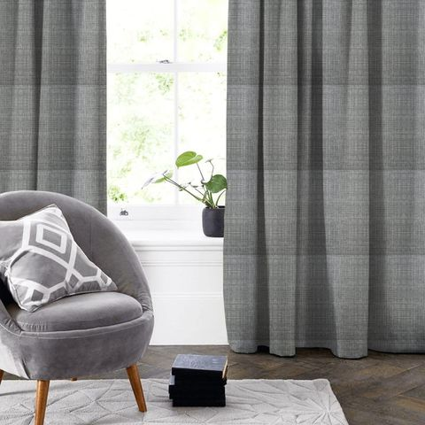 Scribble Cool Grey Made To Measure Curtain