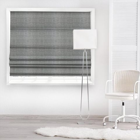 Scribble Cool Grey Made To Measure Roman Blind