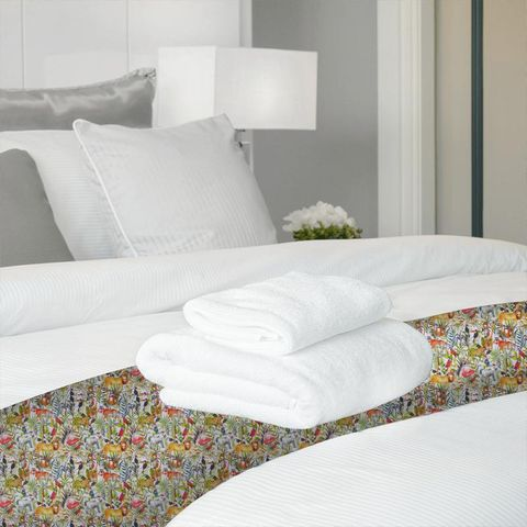 King Of The Jungle Waterfall Bed Runner