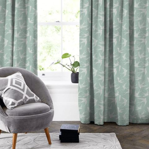 Fly Away Mineral Made To Measure Curtain