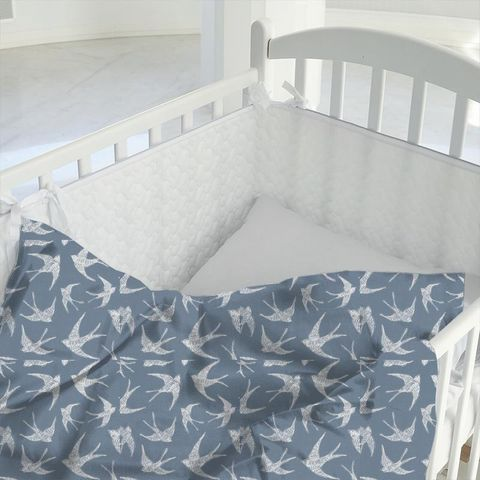 Fly Away Navy Cot Duvet Cover