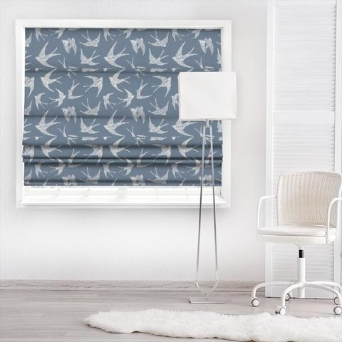 Fly Away Navy Made To Measure Roman Blind