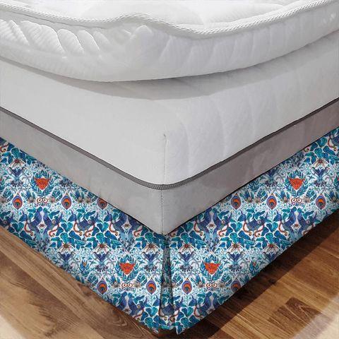 Amazon Blue Bed Base Valance