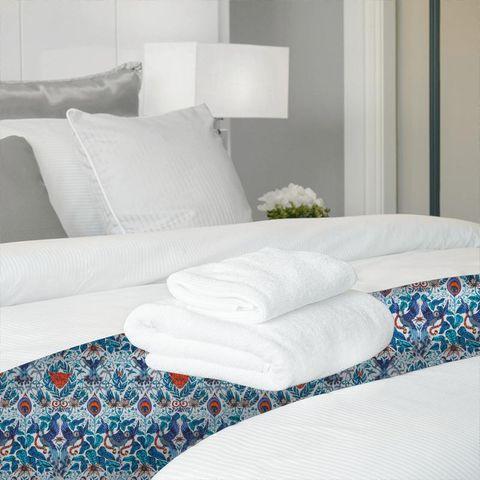 Amazon Blue Bed Runner