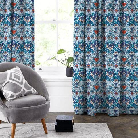 Amazon Blue Made To Measure Curtain