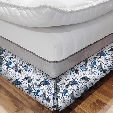 Audubon Blue Bed Base Valance