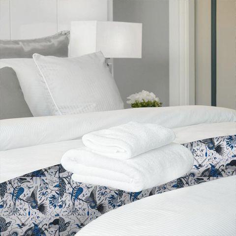 Audubon Blue Bed Runner
