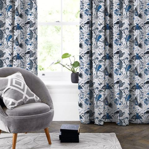 Audubon Blue Made To Measure Curtain