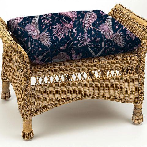 Audubon Pink Box Cushion
