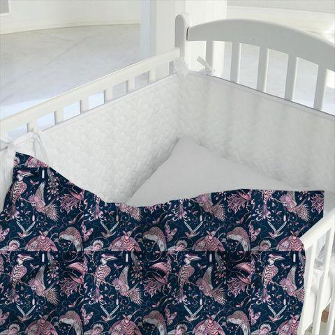 Audubon Pink Cot Duvet Cover