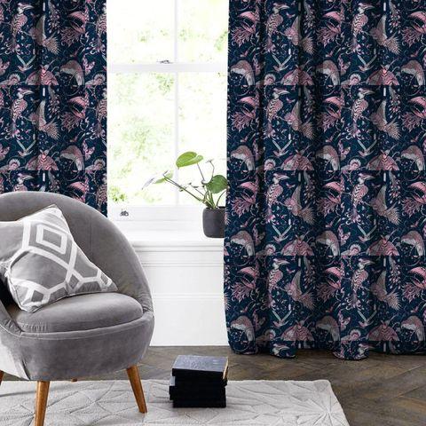 Audubon Pink Made To Measure Curtain