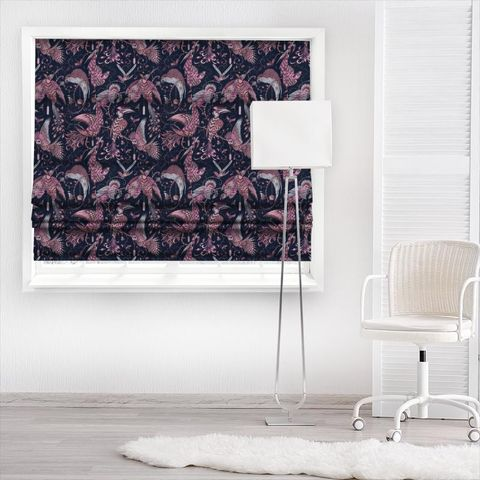 Audubon Pink Velvet Made To Measure Roman Blind