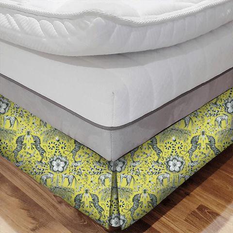 Kruger Lime Bed Base Valance