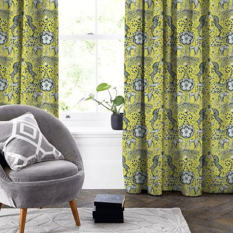 Kruger Lime Made To Measure Curtain