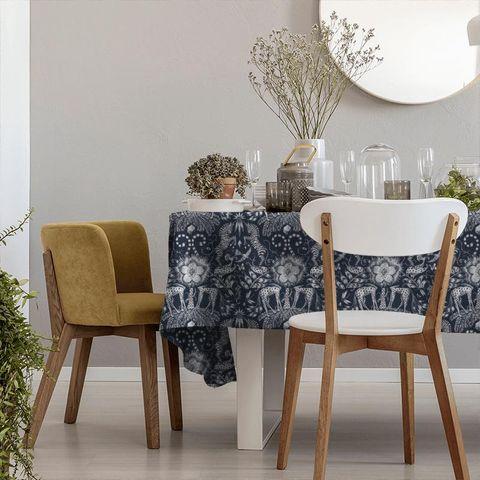 Kruger Navy Tablecloth